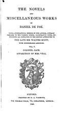 The Novels and Miscellaneous Works of Daniel De Foe PDF