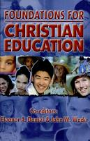 Foundations for Christian Education PDF