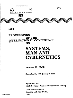 1983 Proceedings of the International Conference on Systems  Man  and Cybernetics  December 29  1983 January 7  1984 PDF