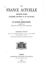La France actuelle: quelques études d'économie politique et de statistique