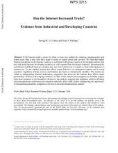 Has the Internet Increased Trade?: Evidence from Industrial and Developing Countries