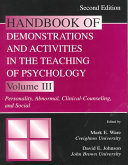 Handbook of Demonstrations and Activities in the Teaching of Psychology  Personality  abnormal  clinical counseling  and social PDF