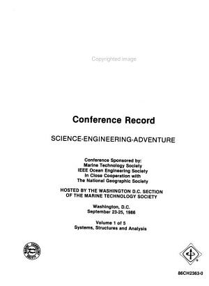 Oceans  86 Conference Record  Systems  structures  and analysis PDF