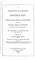 A Pronouncing and Defining Dictionary of the English Language PDF