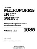 Download Guide to Microforms in Print Book