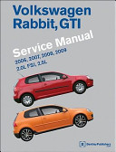 Volkswagen Rabbit  GTI  A5  Service Manual  2006  2007  2008  2009  2 0l Fsi  2 5l PDF
