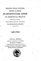 Indice delle figure relative ai Principij di architettura civile di Francesco Milizia disegnate ed incise in ventisette tavole da Gio. Battista Cipriani sanese