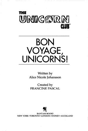 Bon Voyage Unicorns