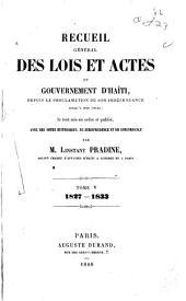 Recueil général des lois det actes du gouvernement d'Haïti: depuis la proclamation de son indépendence jusqu'a nos jours, Volume5