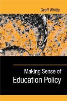 Making Sense of Education Policy PDF
