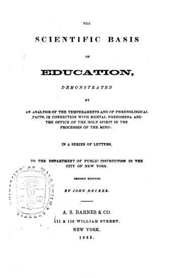 The Scientific Basis of Education PDF