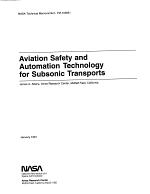 Aviation safety and automation technology for subsonic transports
