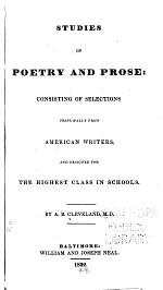 Studies in Poetry and Prose