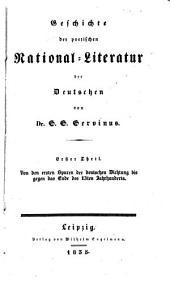 Geschichte der poetischen National-Literatur der Deutschen: Band 1