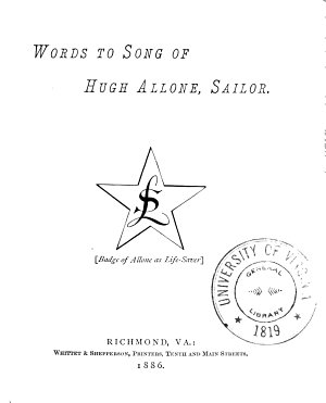 Words to Song of Hugh Allone  Sailor