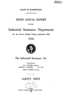 Annual Report of the Industrial Insurance Department     PDF