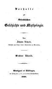 Vorhalle zur griechischen Geschichte und Mythologie: Band 1