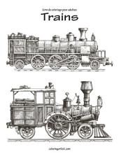 Livre de coloriage pour adultes Trains 1