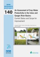 An assessment of crop water productivity in the Indus and Ganges River Basins  current status and scope for improvement PDF