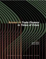 Access to Trade Finance in Times of Crisis PDF