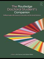 The Routledge Doctoral Student s Companion PDF