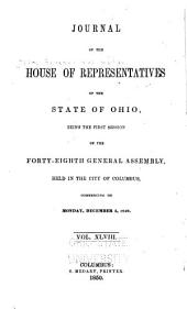 Journal of the House of Representatives of the State of Ohio: Volume 48