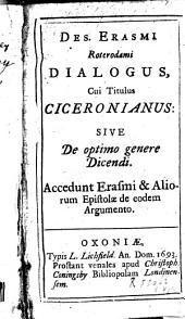 Dialogus cui titulus Ciceronianus, sive de optimo genere dicendi