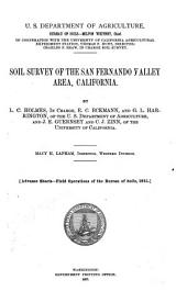 Soil Survey of the San Fernando Valley Area, California