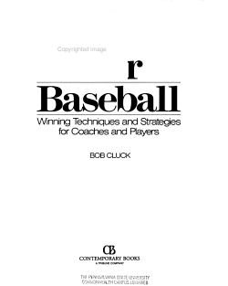 Play Better Baseball PDF