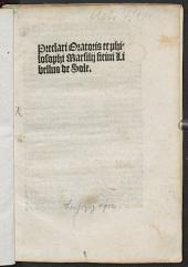 Preclari oratoris et philosophi Marsilii Ficini Libellus de Sole
