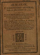 Almanak y calendario general para el año bisiesto de 1796
