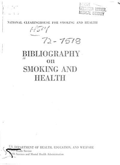 Bibliography on Smoking and Health PDF