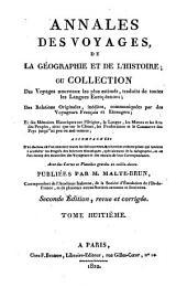 Annales des voyages de la géographie et de l'histoire: Volume8