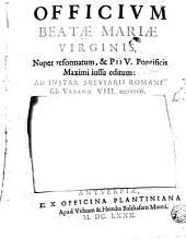 Officium Beatae Mariae Virginis