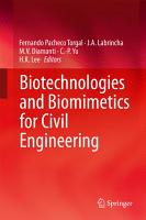Biotechnologies and Biomimetics for Civil Engineering PDF