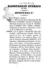 Ragguaglio storico di quanto è avvenuto in Roma e in tutte le provincie dello Stato pontificio in seguito del perdono accordato dalla santità di N. S. papa Pio 9. come dal suo editto del 16 luglio 1846: Volume 7