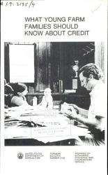 What Young Farm Families Should Know About Credit Book PDF