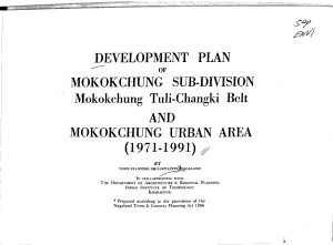Development Plan of Mokokchung Sub Division  Mokokchung Tuli Changki Belt  and Mokokchung Urban Area  1971 1991 PDF