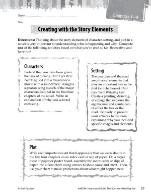 Their Eyes Were Watching God Studying the Story Elements PDF