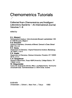 Chemometrics Tutorials PDF