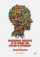 Philosophical Principles of the History and Systems of Psychology PDF