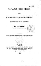 Catalogo delle stelle di cui si è determinato lo spettro luminoso all'Osservatorio del Collegio romano