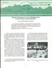Rodent exclosures for the subalpine zone in the central Colorado Rockies