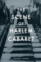 The Scene of Harlem Cabaret PDF