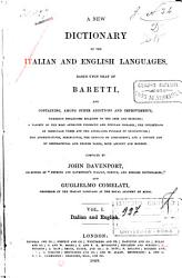 A New Dictionary of the Italian and English Languages PDF