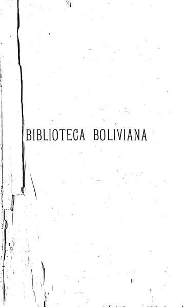 Biblioteca Boliviana Catalogo De La Seccion De Libros Y Folletos