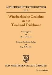Winsbeckische Gedichte nebst Tirol und Fridebrant: Ausgabe 3