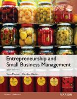 Entrepreneurship and Small Business Management  Global Edition PDF