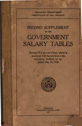 Second Supplement to the Government Salary Tables Showing 97 1 ̀per Cent of Basic Salaries in Accordance with the Provisions of the Civil-service Retirement Act Approved May 22, 1920