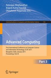 Advanced Computing: First International Conference on Computer Science and Information Technology, CCSIT 2011, Bangalore, India, January 2-4, 2011. Proceedings, Part 3
